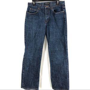 J Crew Button Fly Straight Leg Denim Jeans 10/30